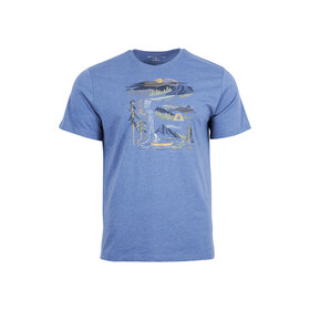 United By Blue Riverbend T-shirt met Print Heren, high tide